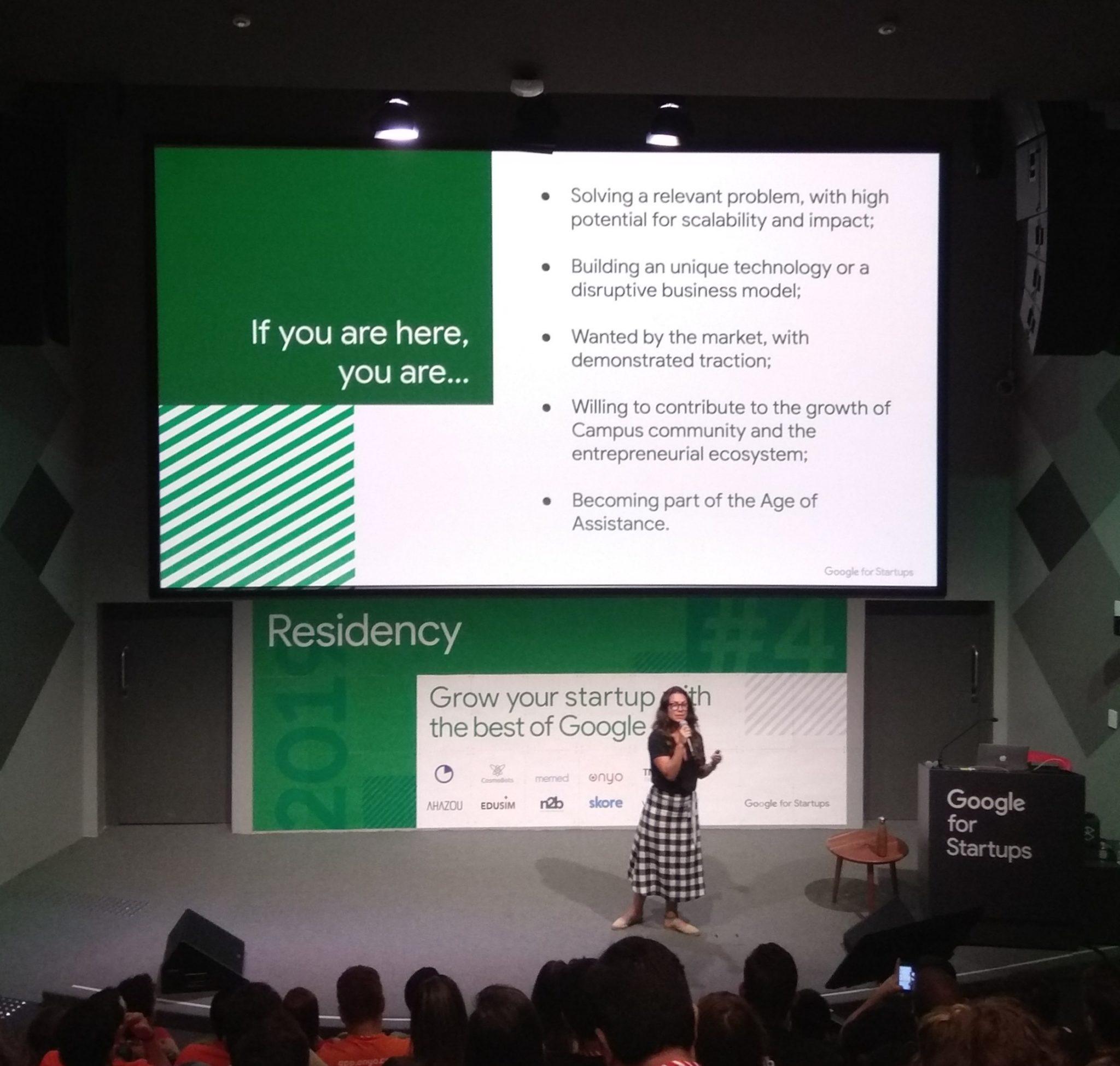 Welcome presentation at Google for Startups