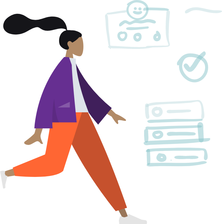 Mulher-andando-cartoon